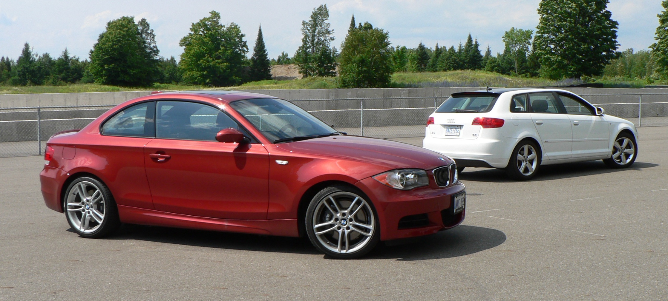 comparo audi a3 3 2 quattro versus bmw 135i john leblanc 39 s straight six. Black Bedroom Furniture Sets. Home Design Ideas